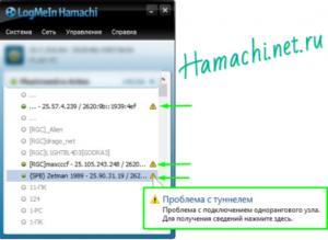 Hamachi: исправляем проблему с туннелем