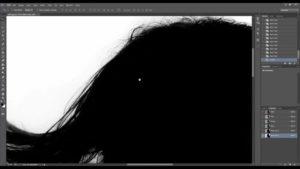 Выделяем волосы в Фотошопе