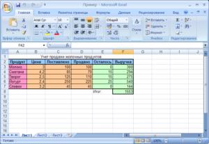 Подсчет заполненных ячеек в Microsoft Excel