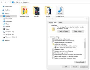 Создание невидимой папки в Windows 10