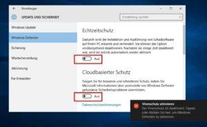 Включаем и отключаем Windows Defender
