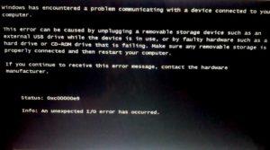 Исправляем ошибку 0xc00000e9 в Windows 7