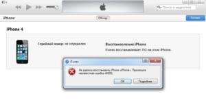 Способы устранения ошибки 29 в iTunes