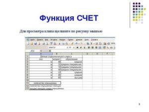 Применение функции СЧЕТ в Microsoft Excel