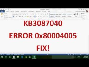 Устранение ошибки с кодом 0x80004005 в Windows 10