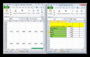 Открытие документа Microsoft Excel в разных окнах