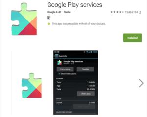 Обновление Сервисов Google Play