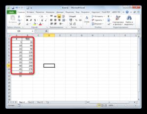 Применение экстраполяции в Microsoft Excel