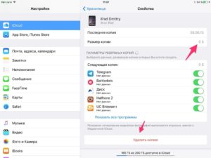 Как удалить резервную копию iPhone из iCloud