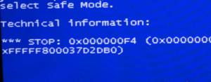 Решаем проблему с BSOD 0x000000f4 в Windows 7