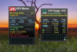 Гаджеты мониторинга температуры процессора для Windows 7