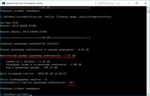 Способы очистки папки WinSxS в Windows 10
