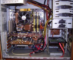 Подключение блока питания к компьютеру