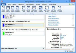 Создание загрузочной флешки в Paragon Hard Disk Manager