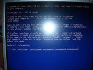 Исправление ошибки 0x000000D1 в Windows 7