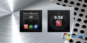 Удобные гаджеты для выключения компьютера на Windows 7
