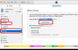 Перенос фото с компьютера на iPhone