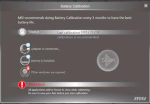 Программы для калибровки батареи ноутбука