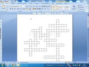 Как сделать кроссворд на компьютере