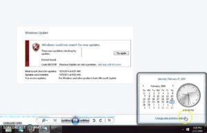 Исправляем ошибку обновления 80072f8f в Windows 7