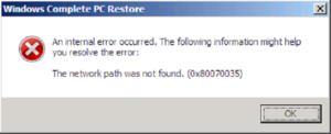 Устраняем ошибку «Не найден сетевой путь» с кодом 0x80070035 в Windows 10