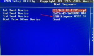 Настраиваем BIOS для загрузки с флешки