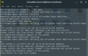 Установка VirtualBox Guest Additions