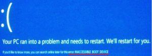 Исправляем ошибку «INACCESSIBLE_BOOT_DEVICE» в Windows 10