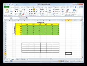 Копирование таблицы в Microsoft Excel
