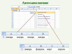 Автозаполнение ячеек в Microsoft Excel
