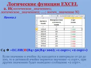 Логические функции в программе Microsoft Excel