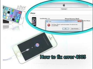 Способы устранения ошибки 4005 в iTunes