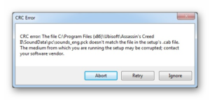 Исправляем ошибку CRC жесткого диска