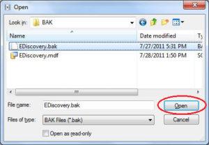 Открываем файлы с расширением BAK