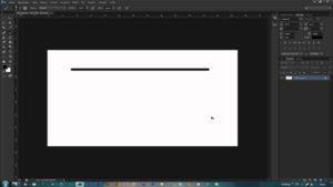 Рисуем прямую линию в Фотошопе