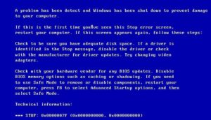 Решаем проблему с BSOD 0x0000008e в Windows 7