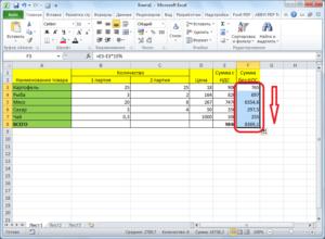 Расчет процентов в программе Microsoft Excel