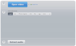 Извлечение аудиодорожки из видео онлайн