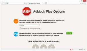 Плагин Adblock Plus для Internet Explorer