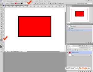 Рисуем прямоугольники в Фотошопе