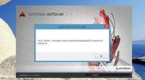 Фатальная ошибка в AutoCAD и способы ее решения