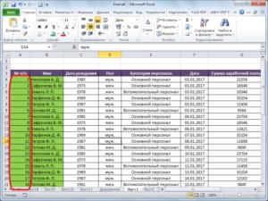 Принципы нумерации ячеек в Microsoft Excel