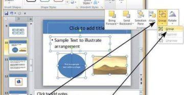 Группировка объектов в PowerPoint