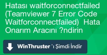 Устранение ошибки «WaitforConnectFailed» в TeamViewer