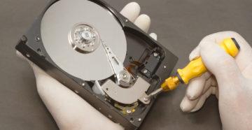 Как отремонтировать жесткий диск