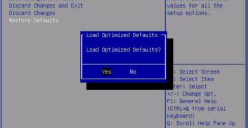 Что такое Restore Defaults в BIOS