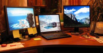 Используем ноутбук в качестве монитора для компьютера