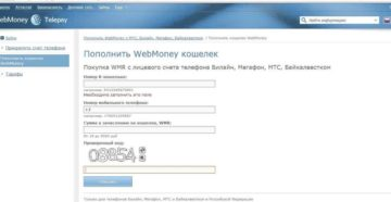 Пополняем счет WebMoney