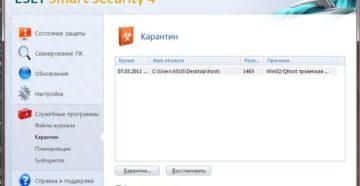 Удаление антивируса ESET Smart Security